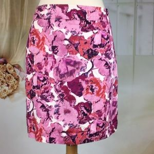 LOFT Floral Career Pencil Skirt